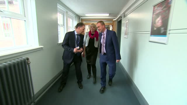 interior shots of liberal democrat leader tim farron visiting kingston technical college whilst campaigning for the general election on 1st june 2017... - technical college stock videos & royalty-free footage