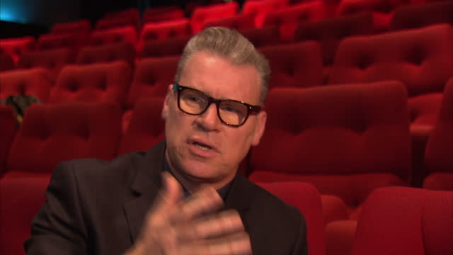 stockvideo's en b-roll-footage met interior shots of mark kermode film critic giving an interview about the film mandela being nominated for bafta award mark kermode interview on bafta... - criticus