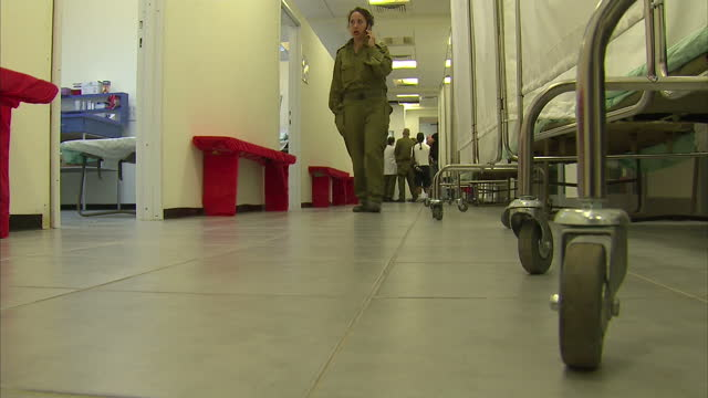 interior shots of medical hospital in ashkelon israel foyer patient beds medication people on a ward - ashkelon stock videos and b-roll footage