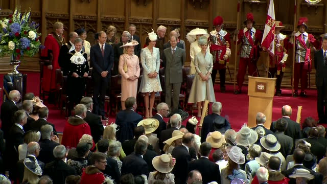 Interior shots of members of the Royal Family including Catherine Duchess of Cambridge Prince Edward Sophie Countess of Wessex Prince Andrew Prince...