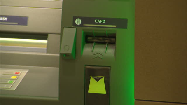 interior shots of ms bank atm machines in branch on june 20 2014 in bristol england - self service stock videos & royalty-free footage