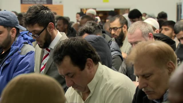 interior shots of muslim men at prayer in a mosque during friday prayers on 1 march 2019 in london, united kingdom - human age stock videos & royalty-free footage
