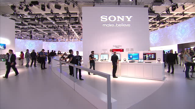 interior shots of new sony technology including the new personal 3d viewer the smart phone camera lens attachment the qx10 personal 3d viewer lens... - sony stock videos & royalty-free footage
