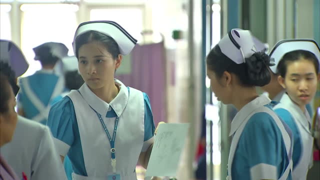 interior shots of patients doctors and nurses on the wards of a hospital in bangkok on may 10 2016 in bangkok thailand - antibiotic resistant stock videos and b-roll footage