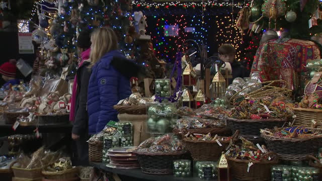 interior shots of people shopping for christmas tinsel, baubles, coloured lights and other christmas-related accessories on 22 november 2020 in... - tinsel stock videos & royalty-free footage