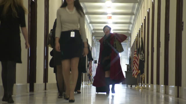 interior shots of people walking in the corridors of the us senate in the capitol building on december 09 2012 in washington dc - capitol building washington dc stock videos & royalty-free footage