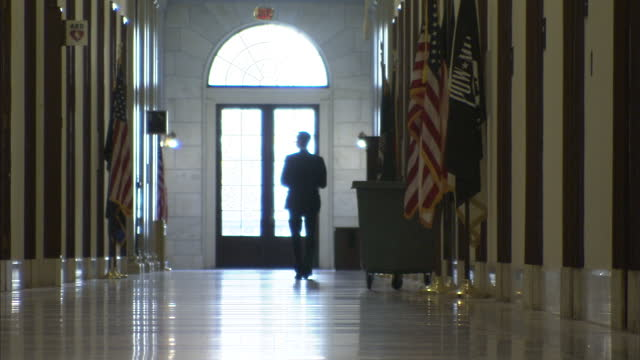 interior shots of people walking in the corridors of the us senate in the capitol building on december 09 2012 in washington dc - united states senate stock videos & royalty-free footage