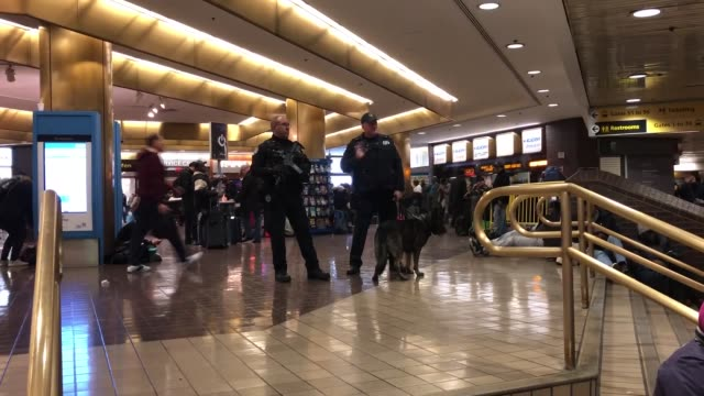 interior shots of port authority bus terminal following an explosion on december 11 2017 near times square in new york city usa a 27yearold male... - port authority stock videos & royalty-free footage