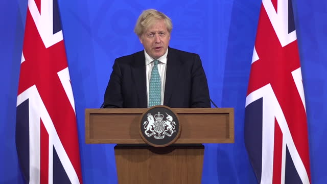GBR: Boris Johnson delivers Downing Street press conference on coronavirus