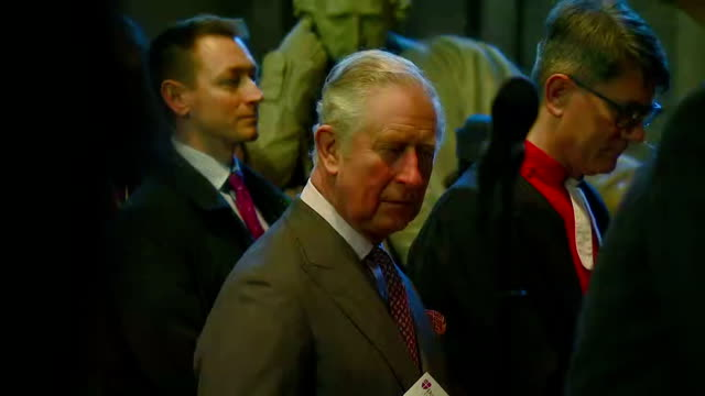 interior shots of prince charles arriving and taking his seat before a concert of some of the works of the composer sir hubert parry at durham... - イングランド ダラム点の映像素材/bロール