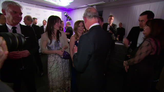 interior shots of prince charles chats meeting gerri halliwell & christian horner at the prince's trust gala on february 04, 2016 in london, england. - christian horner stock videos & royalty-free footage