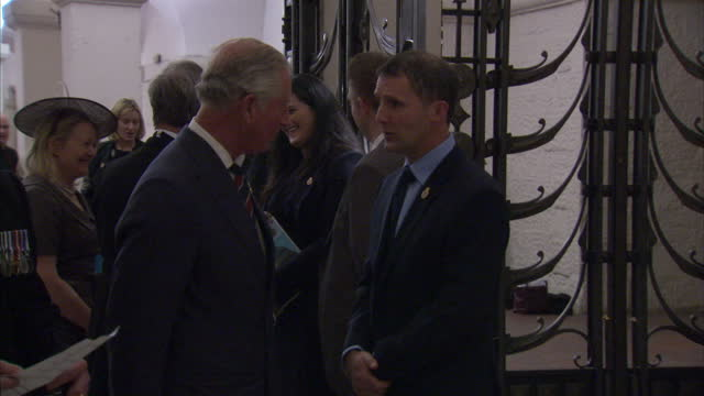 interior shots of prince charles meeting various people in st paul's cathedral during the police memorial day service on september 25 2016 in london... - religious service stock videos & royalty-free footage