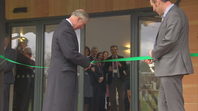 Interior shots of Prince Charles opening new learning centre at Ashley Church of England Primary School on February 10 2016 in WaltononThames England