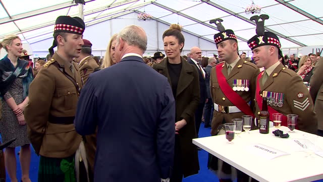 interior shots of prince charles prince of wales meet and greet with service men and women the memorial honoured the service and duty of both the uk... - meet and greet stock videos and b-roll footage