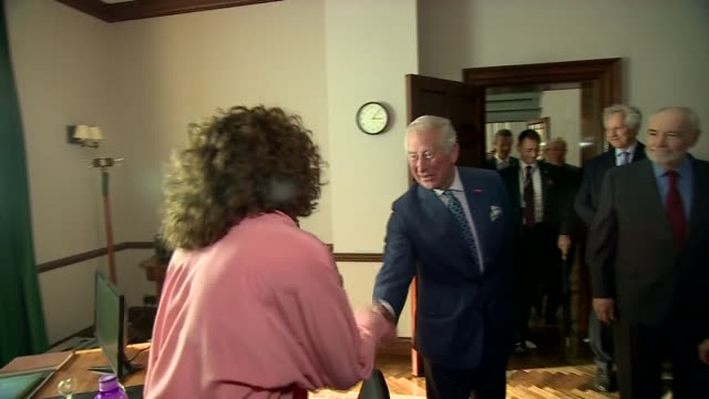interior shots of prince charles prince of wales meets british actress naomie harris as he tours the set of the 25th james bond film at pinewood... - daniel craig actor stock videos & royalty-free footage