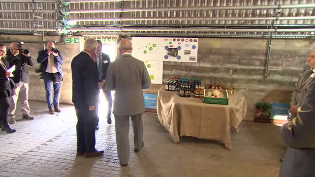 GBR: UK:The Prince of Wales visits Rainbarrow Farm near Poundbury in Dorset, a project that he has supported for a number of years, to witness the latest development in sustainable energy for the region.