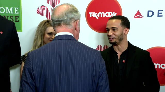 interior shots of prince charles speaking to celebrity ambassadors including phillip schofield and kate garraway before the prince's trust awards... - phillip schofield stock videos & royalty-free footage