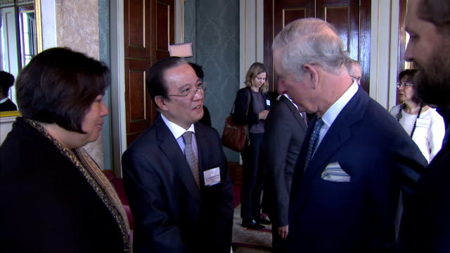 """vídeos de stock, filmes e b-roll de interior shots of prince charles speaking to delegates during a meeting of the prince's international sustainability unit on """"international year of... - invertebrado"""