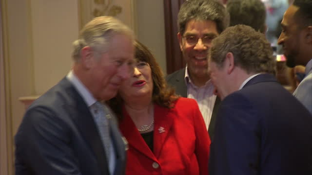 Interior shots of Prince Charles talking to various people at the Prince's Trust's Celebrate Success Awards on March 07 2016 in London England