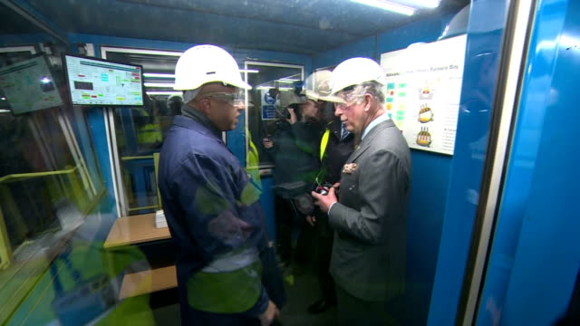 interior shots of prince charles visiting liberty speciality steels visitor centre and speaking to liberty founder and gfg executive chairman sanjeev... - founder stock videos and b-roll footage