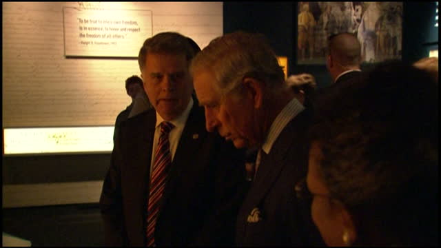 interior shots of prince charles visiting the national archives in washington and viewing the 1297 magna carta>> on march 18 2015 in washington dc - national archives washington dc stock videos and b-roll footage