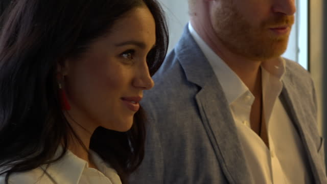 interior shots of prince harry and meghan duchess of sussex visiting yes youth employment service and inspecting hydroponic vegetables on 2 october... - botany stock videos & royalty-free footage