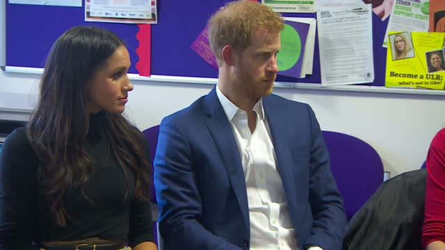 Interior shots of Prince Harry and Meghan Markle meeting with head teachers at Nottingham Academy to hear about the work of the Full Effect programme...