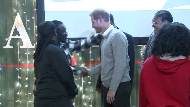 Interior shots of Prince Harry and Meghan Markle posing for photographs and speaking to Reprezent FM radio staff after visiting the radio station...