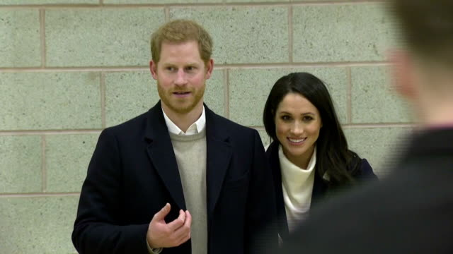 Interior shots of Prince Harry and Meghan Markle watching a training masterclass at the Nechells Wellbeing Centre and speaking to speaking to coaches...