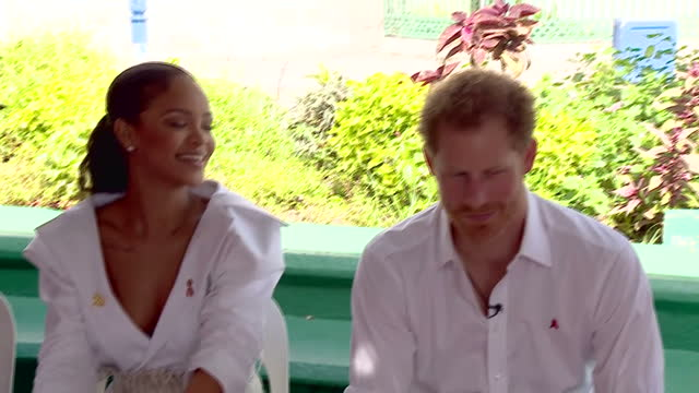 Interior shots of Prince Harry and the singer Rihanna sitting together and having blood samples taken for an HIV test on December 1 2016 in...