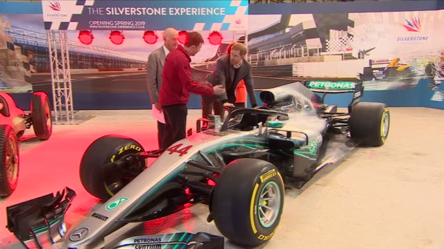 interior shots of prince harry at the launch of the silverstone experience looking at varous exhibits and project work done by school children and a... - silverstone stock videos & royalty-free footage
