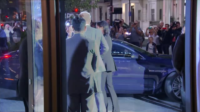 Interior shots of Prince Harry Duke of Sussex and Maghan Duchess of Sussex leaving the Royal Lancaster Hotel after the WellChild awards on 4th...
