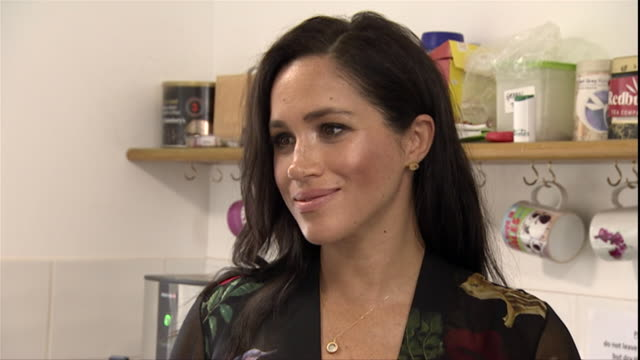 interior shots of prince harry, duke of sussex and meghan, duchess of sussex visit the kitchen of one25 charity on 1st february 2019 in bristol,... - bristol england stock videos & royalty-free footage
