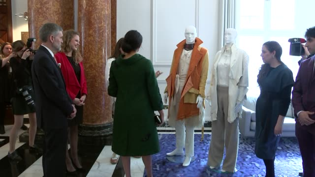 interior shots of prince harry duke of sussex and meghan duchess of sussex visit canada house on 11 march 2019 in london united kingdom - canada house stock videos and b-roll footage