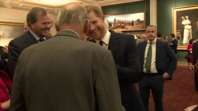 interior shots of prince harry meeting soldiers and others at the lord mayor's 12th annual big curry lunch raising money for service charities on 4... - gottesdienst stock-videos und b-roll-filmmaterial
