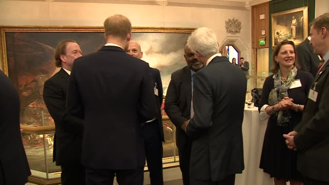 interior shots of prince harry meeting soldiers at the lord mayor's 12th annual big curry lunch raising money for service charities on 4 april 2019... - gottesdienst stock-videos und b-roll-filmmaterial