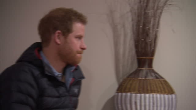 interior shots of prince harry meeting staff at a help for heroes recovery centre on january 23, 2017 in tidworth, england. - tidworth stock videos & royalty-free footage