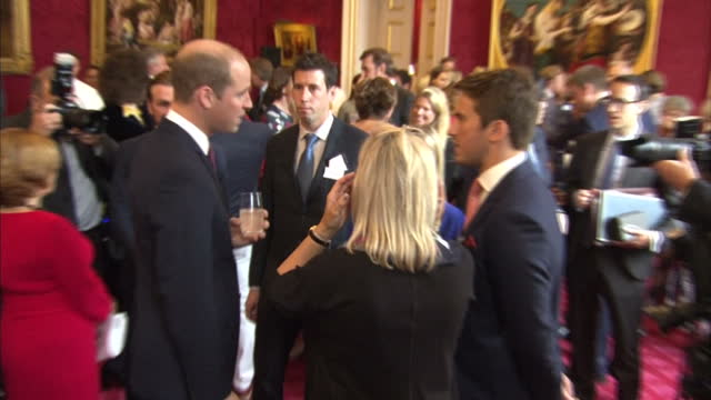 Interior shots of Prince Harry speaking to guests at a reception for the Heads Together charity at St James Palace on 10th October 2017 London England