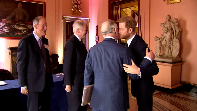 interior shots of prince harry speaking to officials before the international sustainability unit's meeting international year of the reef 2018 – an... - prince of wales stock videos & royalty-free footage