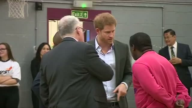 interior shots of prince harry visiting the pink lizard youth and community organisation and speaking to community leaders on march 21, 2017 in... - youth organisation stock videos & royalty-free footage
