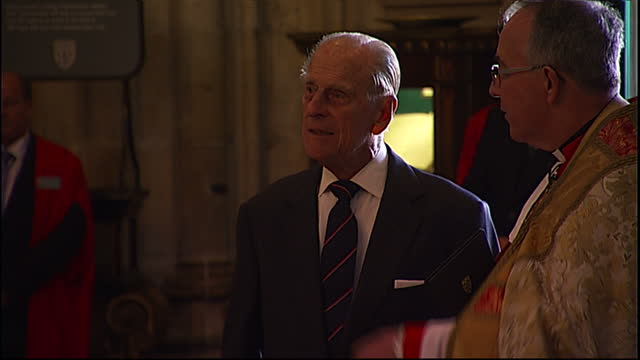 interior shots of prince philip duke of edinburgh at a service of dedication to admiral arthur philip at westminster abbey on july 9 2014 in london... - archbishop stock videos & royalty-free footage