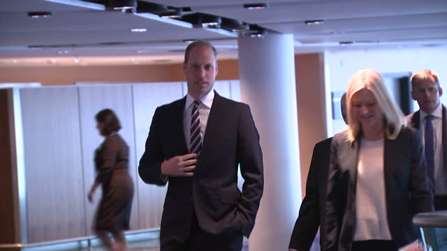 interior shots of prince william arriving at a reception at wembley stadium to celebrate his 10th anniversary as president of the football... - football association stock videos & royalty-free footage