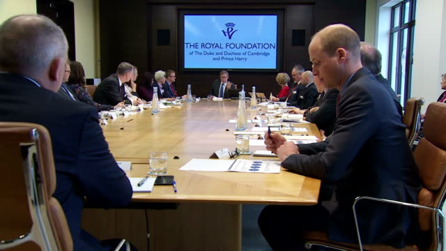 Interior shots of Prince William attending the Workplace Wellbeing Conference with business leaders and mental health campaigners>> on March 01 2018...