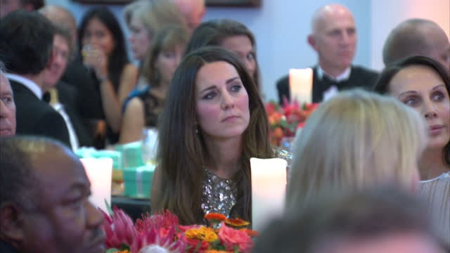 Interior shots of Prince William Catherine Duke Duchess of Cambridge listening to the Tusk Trust award speeches at the Royal Society Prince William...