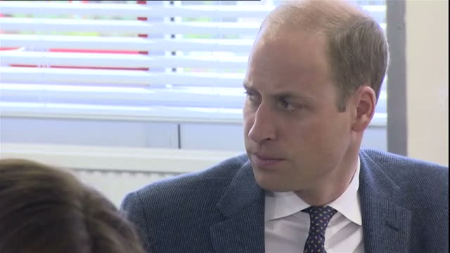 Interior shots of Prince William Duke of Cambridge Catherine Duchess of Cambridge listening to students talk about big changes in their lives during...