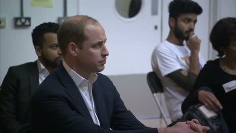 interior shots of prince william, duke of cambridge, sitting in a group session about homelessness on a visit to the heads together christmas party... - annual general meeting stock videos & royalty-free footage