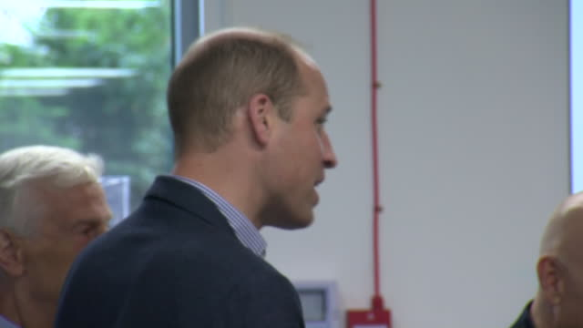interior shots of prince william, duke of cambridge visiting the albert kennedy trust to learn about the issue of lgbtq youth homelessness and the... - youth organisation stock videos & royalty-free footage