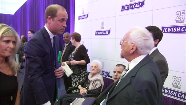 interior shots of prince william meeting jewish care staff clients and supporters at the jewish care 25th anniversary dinner>> on june 11 2015 in... - 25th anniversary stock videos & royalty-free footage