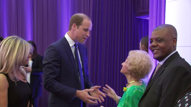 interior shots of prince william meeting jewish care staff clients and supporters at the jewish care 25th anniversary dinner>> on june 11 2015 in... - 25th anniversary stock videos and b-roll footage