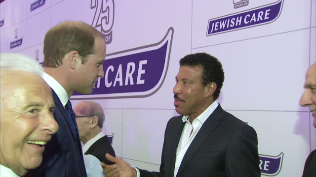 interior shots of prince william meeting lionel richie at the jewish care 25th anniversary dinner>> on june 11 2015 in london england - 25th anniversary stock videos & royalty-free footage